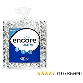 Encore Ultra Paper Plates, 8.62 Inch, 880 Count