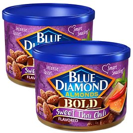 2-Pack Blue Diamond Almonds Sweet Thai Chili Flavored Snack Nuts 6-Oz