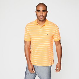 CLASSIC FIT STRIPED DECK POLO