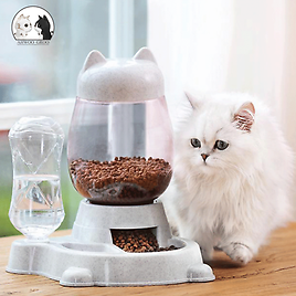 Automatic Pet Feeder Cat Dog Large Food Dispenser&Water Fountain Drink Bowl Dish