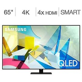 """Samsung 65"""" Class - Q8DT Series - 4K UHD QLED LCD TV - $100 SquareTrade Protection Plan Bundle Included"""