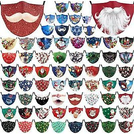 Christmas Washable Facemask Half Face Mouth Mark HipHop Cospaly Party One Size