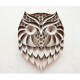 Wise Owl - Two-faced Multilayered Mandala Animal Wood Artwork / Wood Wall Decor / Wooden Wall Art / Wood Gift
