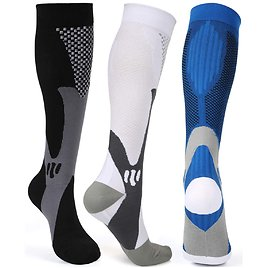Sports Plantar Fasciitis Arch Support Running Gym Knee High Stamina Socks QUXIANG Compression Socks for Men and Women