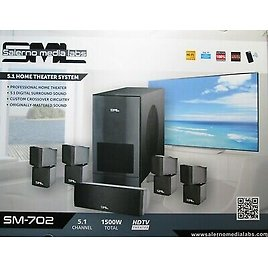 Salerno Media Labs Digital 5.1 Home Theater System 6-Piece Speakers MSRP $2999