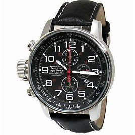 Invicta 2770 Men's Black Stainless Steel Lefty Chronograph Watch 843836027700