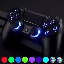 Custom PS4 Controller with LED Color Changing Buttons - 7 Colors - PlayStation 4 Controller Includes LIFETIME WARRANTY