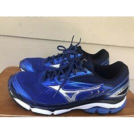 Mzuno Wave Inspire 13 Men's Athletic Running Shoes Blue Black Silver Size 10.5