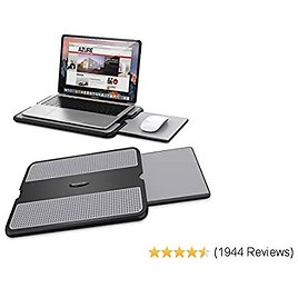 Portable Laptop Desk Fits Up to 15.6 Inch Laptops Lap Writing Board for Sofa /& Bed Drawing Table LORYERGO Lap Desk 6 Adjustable Angles Laptop Stand with Detachable Mouse Pad /& Dual Cushions
