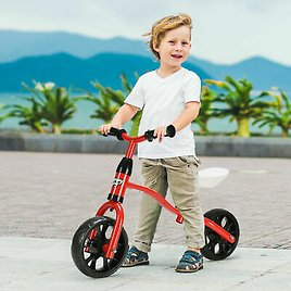 Adjustable Children Kids Balance Bike Pre-bicycle No-Pedal Learn to Ride Red