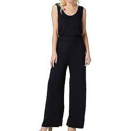Lisa Rinna Collection Womens Jumpsuit Black Size XS Cinched Jersey Knit $58 925