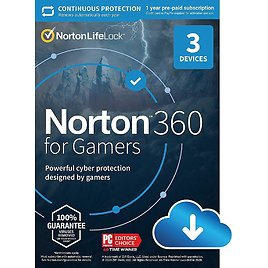 NortonLifeLock Norton 360 for Gamers (3 Devices) (1-Year Subscription) Android, Mac, Windows, IOS [Digital] SYT940800V018