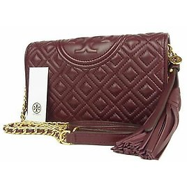 Sale! TORY BURCH NEW Quilted Leather Crossbody Chain Wallet Bag 11003bkac 192485263053