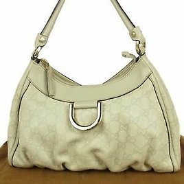 Auth GUCCI Abbey Logos D Ring GG Guccissima Leather Shoulder Hand Bag 16181bkac