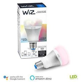 WiZ 60W Equivalent A19 Colors and Tunable White Wi-Fi Connected Smart LED Light Bulb-IZ0126081