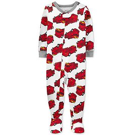 Toddler Boys 1-Pc. Firetruck-Print Footed Pajama