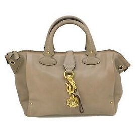 Authentic Bally Leather Tote Satchel Hand Bag Purse Gary Gold Italy
