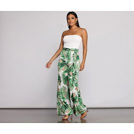 Trip To The Tropics Strapless Jumpsuit
