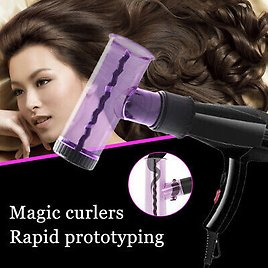 Magic Hair Dryer Diffuser Wind Spin Detachable Curl Hair Diffuser Roller Curler!