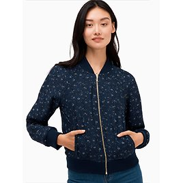 Out West Wild Roses Reversible Bomber Jacket