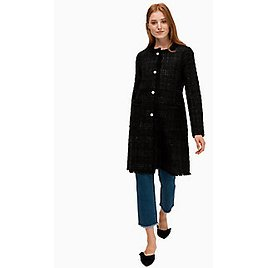 Pearl Button Sparkle Tweed Coat