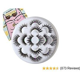 25mm 20mm 6D Mink Lashes Faux 7 Pairs High Volume False Eyelashes Fluffy 3D Lashes Pack Mixed