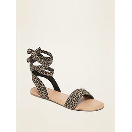 Faux-Suede Ankle-Tie Sandals for Women | Old Navy