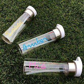 LOVEly Personalised Water Bottle with Your Name for Gym Sunny Summer Hols ISLAND