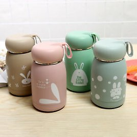 Mini Belly Mug Small Lovely Rabbit Kid Stainless Steel Vacuum Flasks Thermos Cup