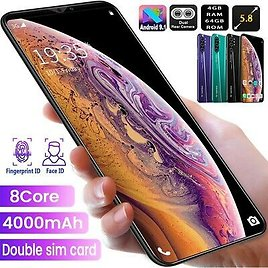5.8'' 4+64G Smartphone Dual SIM Card Octa Core Android 9.1 Smart Mobile Phone
