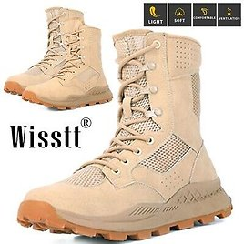 Men's Military Tactical Boots Waterproof Hiking Jungle Desert Lace Up Work Boots