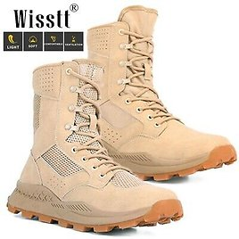 Men's Duty Tactical Combat Military Ankle Boots Outdoor Work Desert Hiking Shoes
