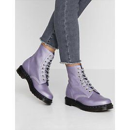 Dr. Martens 1460 PASCAL Virginia Metallic Leather Boot MSRP$165 in Lavender