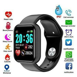 Smart Watch Y68 Waterproof Heart Rate Tracker Wristband for IOS Android BLACK_US