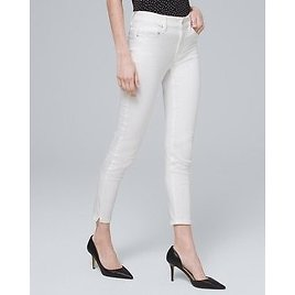 White House Black Market High-Rise Skinny Crop Jeans
