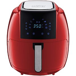 GoWISE USA GW22945 7-Quart 8-in-1 Digital Air Fryer with Recipe Book, 7.0-Qt, Red