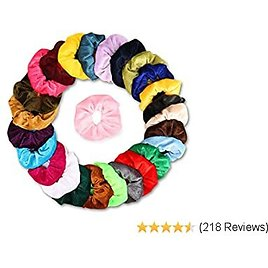 Velvet Hair Scrunchies with Elastic - Weicai 26 Colors Cute Scrunchies for Birthday Gifts for Women or Girls