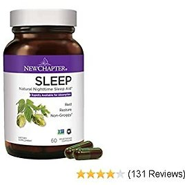 Aid Supplement, Natural Aid, New Chapter Sleep Supplement With Turmeric + Gluten Free - 60ct (1 Month Supply)