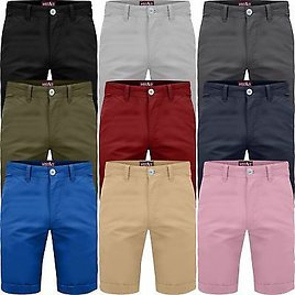 Mens Chino Shorts Cotton Summer Casual Jeans Cargo Combat Half Pants Casual New