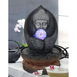 DecorDashCrafts Buddha Statue Decorative Water Fountains for Garden Tabletop Waterfall Indoor Outdoor Living Room Home Decor and Gifts