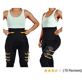 Prime Day50%off Labato Full Body Waist Trainer for Women, 3 In1 Waist Thigh Trimmer Butt Lifter