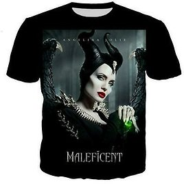 Catoon Maleficent Funny 3D Print Casual T-Shirt Womens Mens Short Sleeve Tops