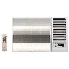 LG Electronics 23,000 BTU 230/208-Volt Window Air Conditioner with Cool, Heat and Remote in White-LW2416HR