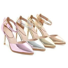 Womens Shoes Pointy Toe High Heels Pumps Strap Dress Stylish Sandals Spring Hot^