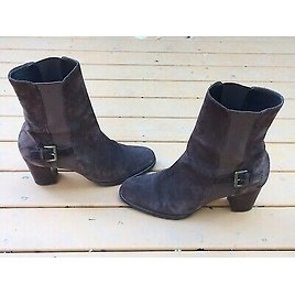 COLE HAAN LADIES BRAZILIAN BROWN LEATHER SUEDE HIGH ANKLE BOOTS BOOTIES SIZE 8 B