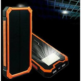 LED 50000mAh Solar Power Bank-Waterproof-Dual USB Battery Charger For Cell Phone