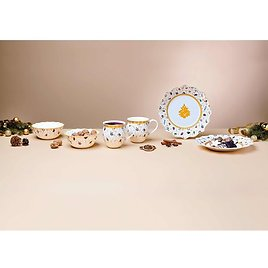 Toy's Delight Breakfast Anniversary Edition 6 Piece Dinnerware Set, Service for 2