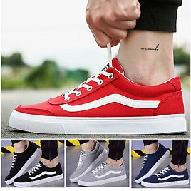 Mens Canvas Low Cut Sneakers Shoes Classic Trainer Casual Walking Athletic Shoes