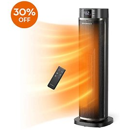 Extra 30% Off TaoTronics 003 Ceramic Tower Heater with Eco Mode for Indoor Use