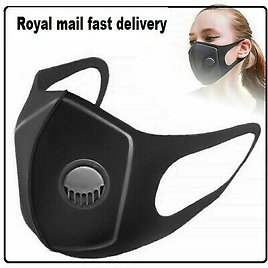 Face Cloths Washable Air Purifying Mouth Nose Filter Respirator UK Seller-1pcs